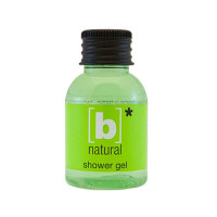B' Natural Shower Gel 33 ml Eco Label - 384 st/kart